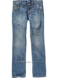 джинсы скини Old Navy голубые с потертостями р 10 слим