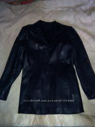 Классический кожаный пиджак Fabiani 46 размер
