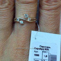 Стильное кольцо. Серебро. Украина.