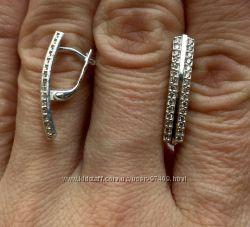 Серьги серебро удлиненные.