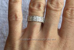 Стильное серебряное кольцо. Реальные фото.