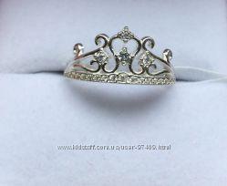 Серебряное кольцо Корона.