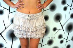 Модна юбка Orsay под замшу с перфорацией ковбойская. размер 36