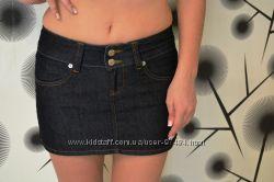 Стильная молодёжная джинсовая юбка Gucci размер 28