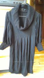 Очень красивое черное платье для животика