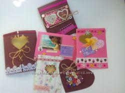 Валентинки. открытки ручной работы