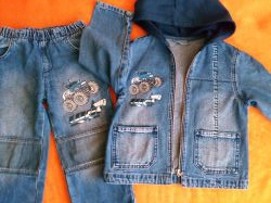 комплект джинсовый 98-104, рубашка джинс.