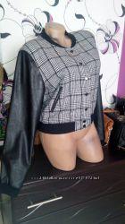 куртка классная с кожаными руковами