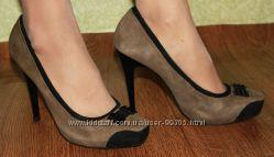 Замшевые туфли на шпильке, 38 размер