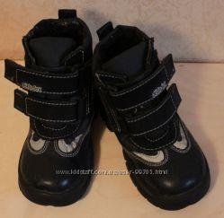 Кожаные ботинки с утеплителем, 23 размер