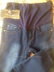 Узкие джинсы на флисе для беременных, размеры 26, 27, 30
