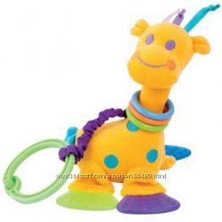 Подвесная мягкая игрушка с погремушкой и прорезывателем Canpol
