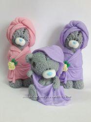 Мыло мишка Тэдди в банном халате и в полотенце