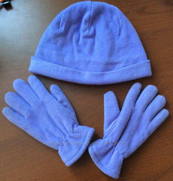 Набор шапка перчатки флис, набор Grans 52p.