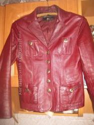 Кожаный пиджак, р44
