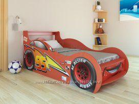 Кровать машина Маквин красная и синяя