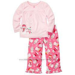 Новая флисовая пижамка Carters Снеговички р. 5Т
