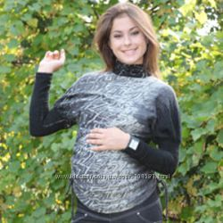 Новая теплая туника для беременных, размер 48