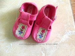 Первая обувь  для куколки 19 размер 11 см по стельке испанской фирмы Cienta
