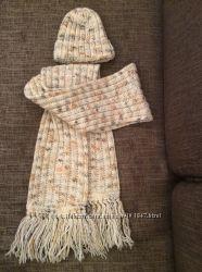 Шапка и шарф крупной вязки Loman