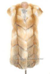 Роскошные жилетки из лисы  в наличии и под заказ