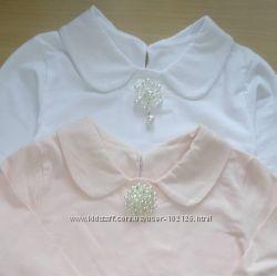 Трикотажна блузка з воротнічком, реглани для дівчаток  від Robinzon