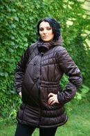Куртка коричневая. Трансформер для беременных и кормящих