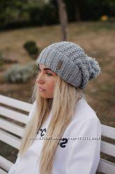 Тёплая шапочка с помпоном