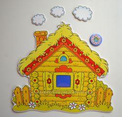 Пластиковые интерьерные декорации для детского сада и комнаты