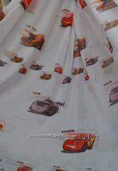 Тюль занавески в детскую комнату Дисней Тачки