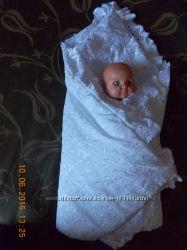 Конверт одеяло для выписки из роддома.