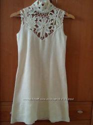 Вязаное платье крючком.