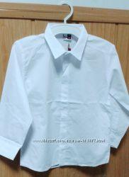 Рубашка белая хлопок Beneti Турция для мальчика 122р