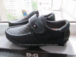 качественные кожанные туфли-мокасины от BG