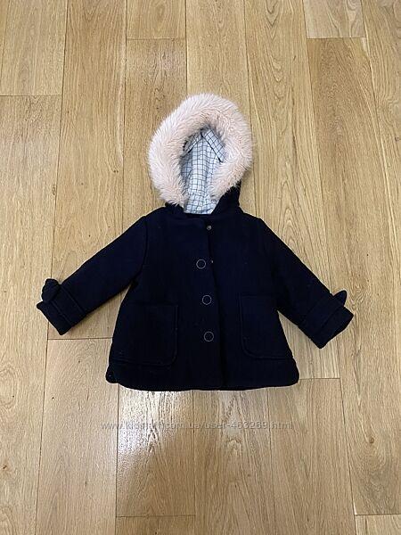 Шерстяное пальто куртка Zara