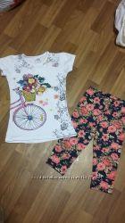туника и лосины, футболки, майки, регланы на 2-8 лет