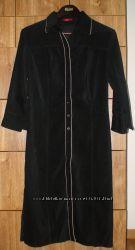 Черное платье искусственная замша р. М