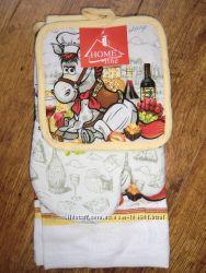 Набор кухонный Home Line 3пр. прихват, полотенце, рукавица