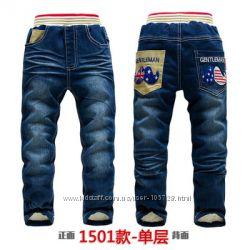 Теплая зима в джинсах на флисе  RABBIT-KK