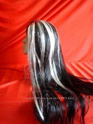Парик Ведьмы с седыми и черными волосами