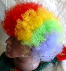 Цветной парик Клоуна, для карнавального костюма