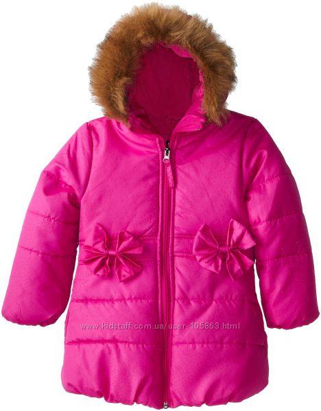Гламурная удлиненная зимняя куртка  ROTHSСHILD на 2 и 3 года в 2-х цветах