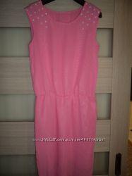 новое шифоновое платье-сарафан Жемчуг