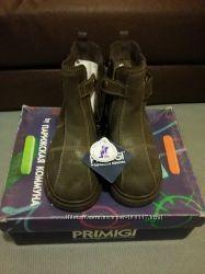 Полусапожки ботинки PRIMIGI. Натуральные кожа и мех