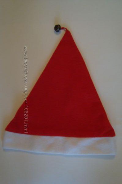Новогодний колпак Санты- Деда Мороза с колокольчиком