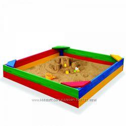 Деревянная песочница 150х150см