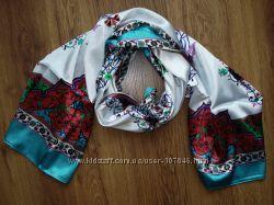 Шелковый шарф ottoman, турецкий орнамент
