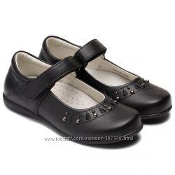 Кожаные школьные туфли для девочки, размер 32-37.