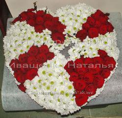 Сердце из роз Киев
