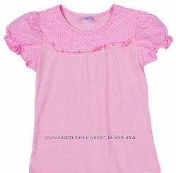 Блузки для школы Валери короткий рукав. 122-140.